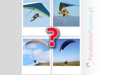 Czym różnią się od siebie: lotnia, motolotnia, paralotnia, motoparalotnia…